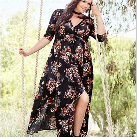 ccbb1a69c8b New 4x Torrid Floral Maxi Dress